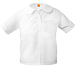 Girls Peter Pan Collar Blouse - Short Sleeve - White