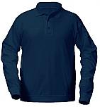 Holy Cross Catholic School - Unisex Interlock Knit Polo Shirt with Banded Bottom - Long Sleeve