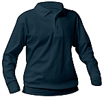 St. Odilia School - Unisex Interlock Knit Polo Shirt with Banded Bottom - Long Sleeve