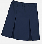 Box Pleat Skirt #2660 - Navy Blue