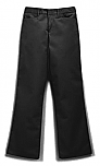 Girls Mid-Rise Super Soft Twill Pants - Flat Front - #4025/4124/4047 - Black