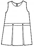 #9476 Drop Waist Jumper - Box Pleats - Poly/Cotton - Plaid #76
