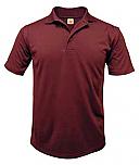 St. Hubert School - Unisex Performance Knit Polo Shirt - Moisture Wicking - 100% Polyester - Short Sleeve
