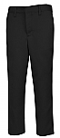 Boys Performance Microfiber Flat Front Pants - A+ 7014/7899 - Black