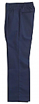 Boys Twill Pants - Pleated Front, Elastic Back - #1268 - Navy Blue