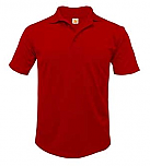 St. John the Baptist Vermillion - Unisex Performance Knit Polo Shirt - Moisture Wicking - 100% Polyester - Short Sleeve