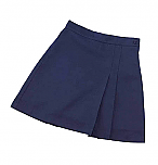 K-12 #2653 Pleated Front and Back Scooter Skort - Navy Blue