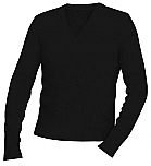 Unisex V-Neck Pullover Sweater - Black