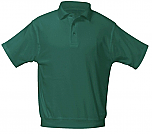 Unisex Interlock Knit Polo Shirt with Banded Bottom - Short Sleeve