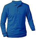 Stella Maris Academy - Unisex Interlock Knit Polo Shirt - Long Sleeve
