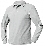 Prodeo Academy St. Paul Campus - Unisex Mesh Knit Polo Shirt - Long Sleeve