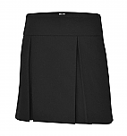 A+ #1106 - Hipster Skort - Box Pleats - Black