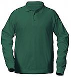 St. Joseph's School - Rosemount - Unisex Interlock Knit Polo Shirt with Banded Bottom - Long Sleeve