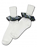 Girls Ruffle Socks - Plaid #80