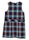 Ave Maria Academy - #9457 Drop Waist Jumper - Box Pleats - Poly/Cotton - Plaid #57