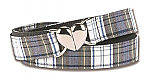 Adjustable Plaid Belt - Heart Buckle