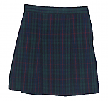 Traditional Waist Skirt - Box Pleats - 100% Polyester - Plaid #98