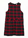 Drop Waist Jumper - Box Pleats - 100% Polyester - Plaid #66