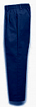 Girls Twill Pants - Pleated Front, Elastic Back - #4019 - Navy Blue