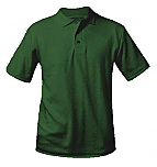 Unisex Interlock Knit Polo Shirt - Short Sleeve - Hunter Green