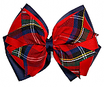 Hair Bow - Extra Large - Plaid #68