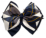 Hair Bow - Extra Large - Plaid #57