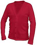 Divine Mercy Catholic School - Unisex V-Neck Cardigan Sweater with Pockets