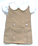 18 Inch Doll Jumper - Drop Waist with Peter Pan Blouse - Khaki
