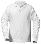 Presentation - Unisex Interlock Knit Polo Shirt with Banded Bottom - Long Sleeve