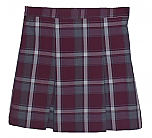 #3454 Box Pleat Skirt - Polyester/Cotton - Plaid #54