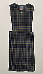 #7242 Split Front Jumper - Knife Pleats - 100% Polyester - Plaid #42