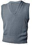 Unisex V-Neck Sweater Vest - Grey