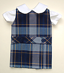 18 Inch Doll Jumper - Drop Waist with Peter Pan Blouse - Plaid #57