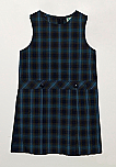 Drop Waist Jumper - Box Pleats - Poly/Cotton - Plaid #27