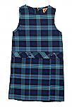 #9441 Drop Waist Jumper - Box Pleats - Poly/Cotton - Plaid #41