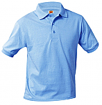 Mary Queen of Peace - Unisex Interlock Knit Polo Shirt - Short Sleeve