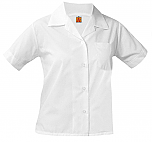Girls Classic Collar Blouse - Short Sleeve - White