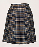 #4342 Knife Pleat Skirt - Drop Waist - 100% Polyester - Plaid #42