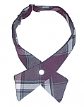 Girls Crossover Neck Tie - Plaid #91