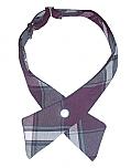 Girls Crossover Neck Tie - Plaid #91