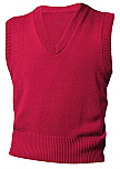 Unisex V-Neck Sweater Vest - Red