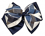 Hair Bow - Extra Large - Plaid #59