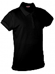 New Life Academy High School - Girls Fitted Mesh Knit Polo Shirt - Short Sleeve