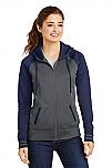 Epiphany - Ladies Sport-Wick Varsity Fleece Full-Zip Hooded Jacket