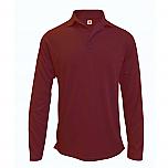 St. Hubert School - Unisex Performance Knit Polo Shirt - Moisture Wicking - 100% Polyester - Long Sleeve