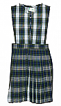 Split Front Jumper - Knife Pleats - Poly/Cotton - Plaid #80