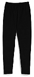 Girls Knit Leggings - Black