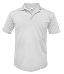DeLaSalle High School - Unisex Performance Knit Polo Shirt - Moisture Wicking - 100% Polyester - Short Sleeve