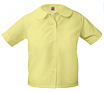 Girls Peter Pan Collar Blouse - Short Sleeve - Yellow