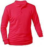 Sacred Heart Catholic School - Unisex Interlock Knit Polo Shirt - Long Sleeve